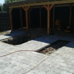ruimte voor vijver en plantenbakken