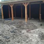 veranda met zand voor terras